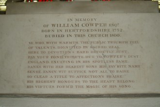 Cowpers memorial in Norfolk