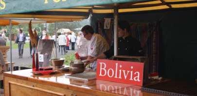 Poffertjes bij de Bolviaanse president Floriade