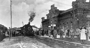 stare zdjęcia dworca kolejowego w Suwałkach