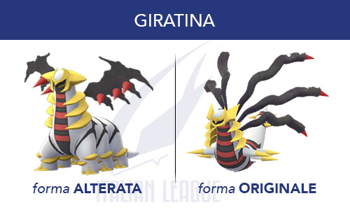 Le due forme di Giratina