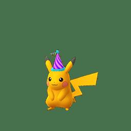 Pikachu con il berretto da festa