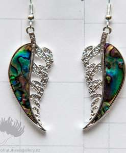 new zealand paua shell silver fern jewellery
