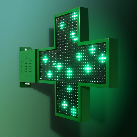 croix pharmacie basic light triled