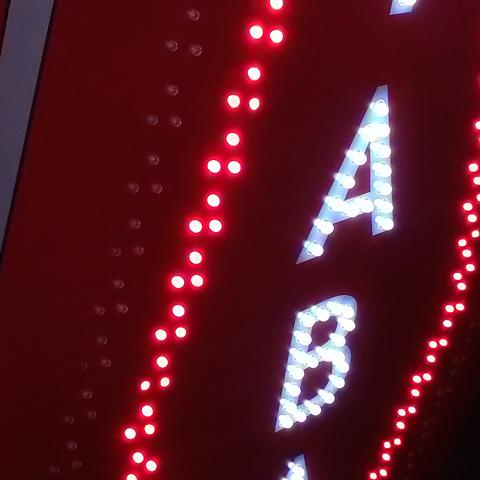 Carotte de Tabac lumineuse à leds rouge et blanche