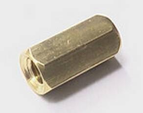 10 Pezzi Cilindro in ottone esagonale da 8 mm - dorato
