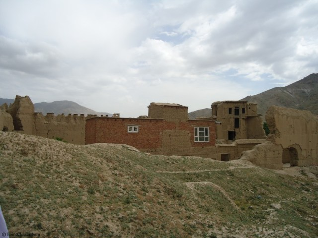 Rebuilt portion of fortress in Arghandeh Afghanistan