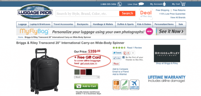 Luggage Pros Baggage Fee Voucher