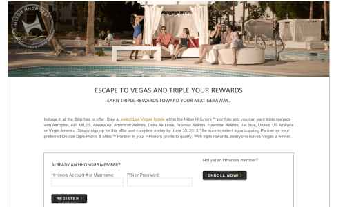 Hilton HHonors Triple Points Las Vegas Promotion
