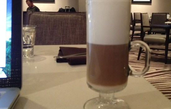 Latte at Vines Cafe Hyatt Regency Sacramento