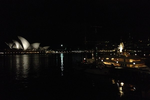 Park Hyatt Sydney Room View at night