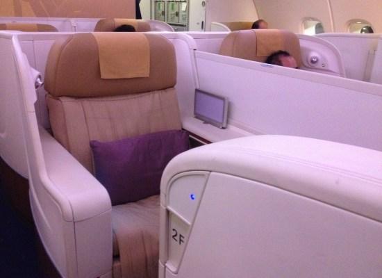 Thai Airways A380 First Class Seat Tokyo Narita - Bangkok
