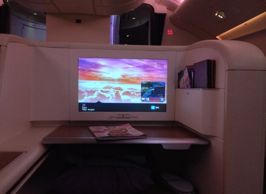 Thai Airways First Class A380 Seat and IFE Review