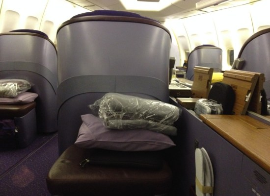 Thai Airways First Class Pillow Blanket and Rimowa Amenity Kit