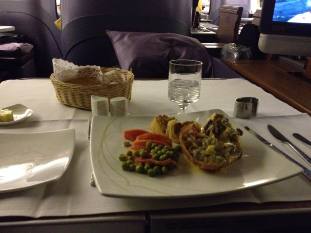 Thai Airways First Class Pre-ordered Meal Lobster Thermidor