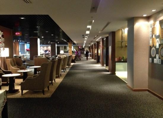 Empty Thai Airways Royal First Class Lounge Bangkok Suvarnabhumi Airport