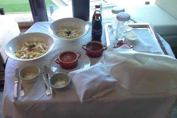 Park Hyatt Sydney Room Service Spaghetti Bolognese