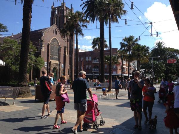 Church near Manly Beach - a rare sight