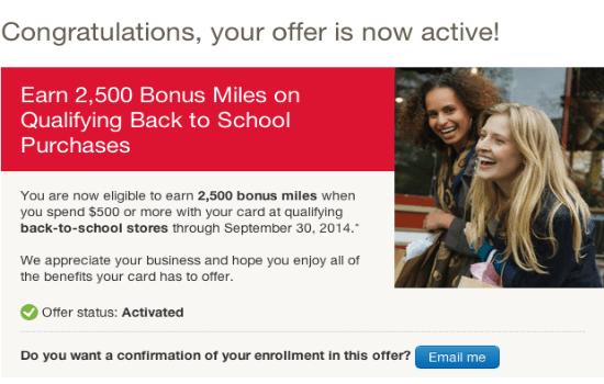Alaska Airlines Visa Signature 2,500 Bonus Miles