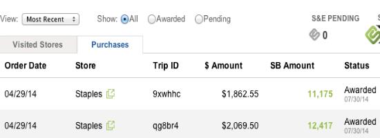 Swagbucks Staples Payout