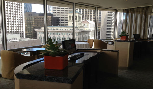 Hyatt Regency San Francisco Club Lounge work area