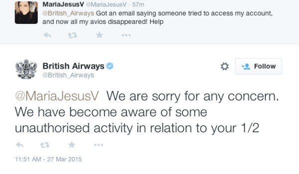 British Airways Avios gone