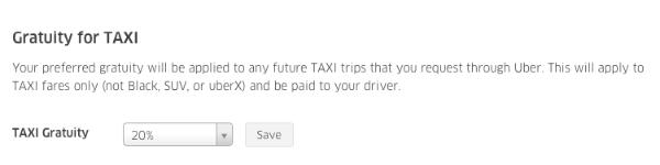 Uber tips