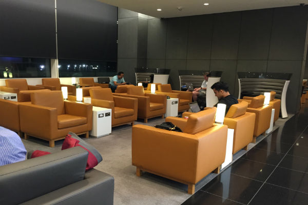 Cathay Pacific Business Class Lounge SFO Seating