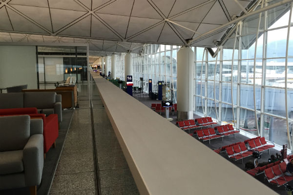 Dragonair Business Class Lounge Hong Kong - overlooks Gate 16