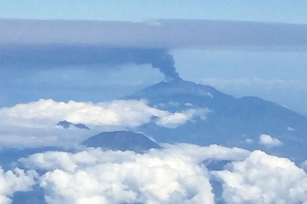 View of Mount Raung