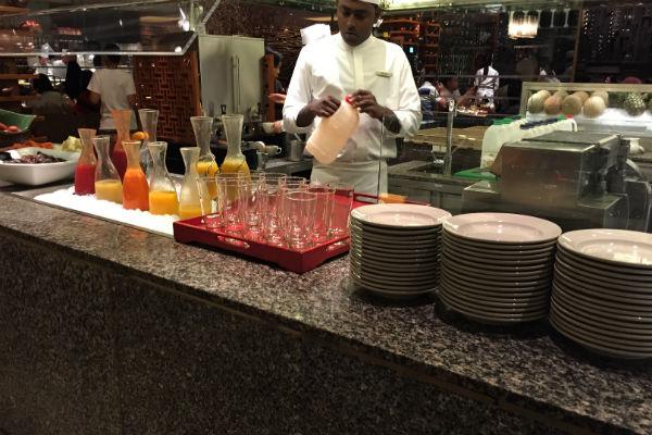 Straits Kitchen breakfast juice station