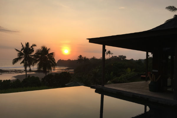 Sunset at Villa Bulung Daya