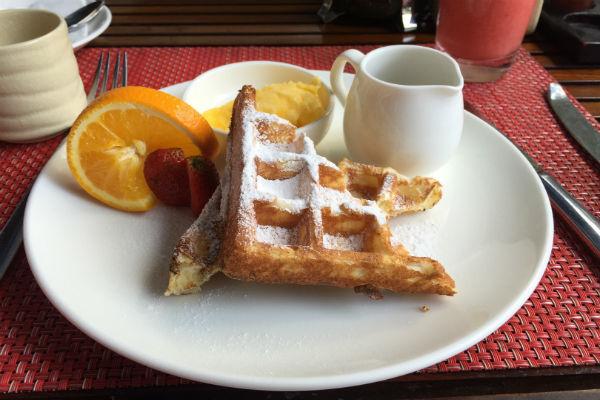 Belgian Waffles at Conrad Bali RIN