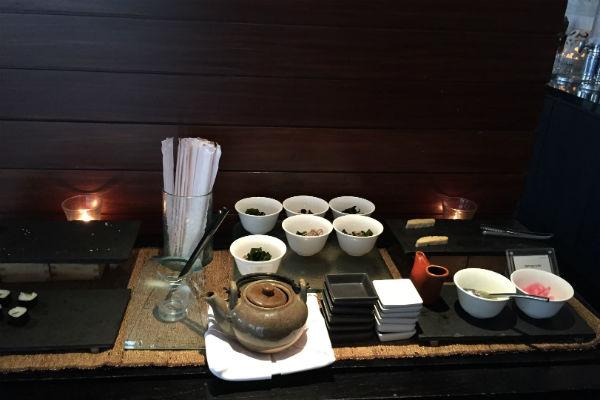 Asian breakfast spread at RIN