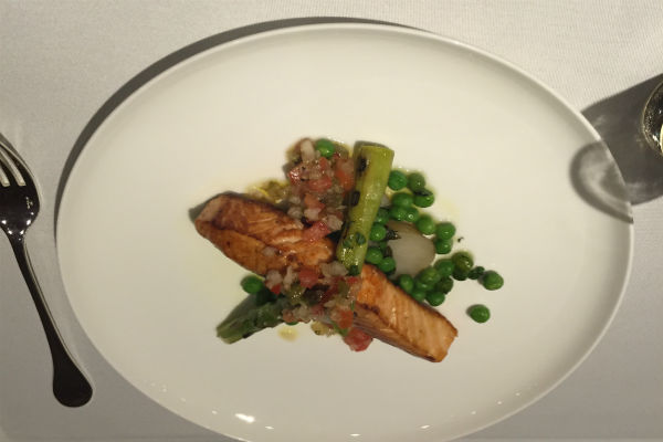 Salmon dish served at The Pier's restaurant