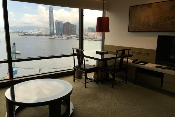 Living room of the Grand Suite Grand Hyatt Hong Kong