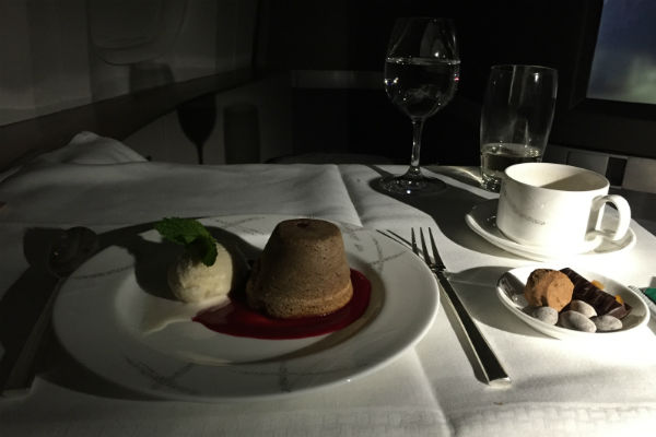 Cathay Pacific First Class Black Forest Pudding