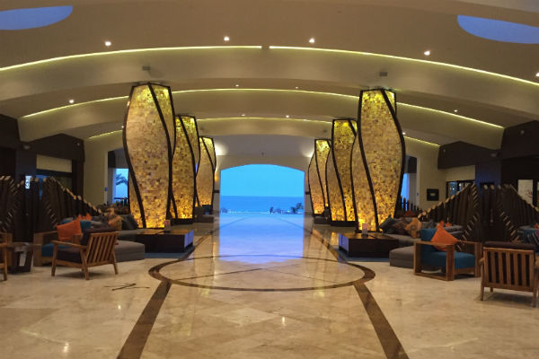 Hyatt Ziva Los Cabos Lobby at night