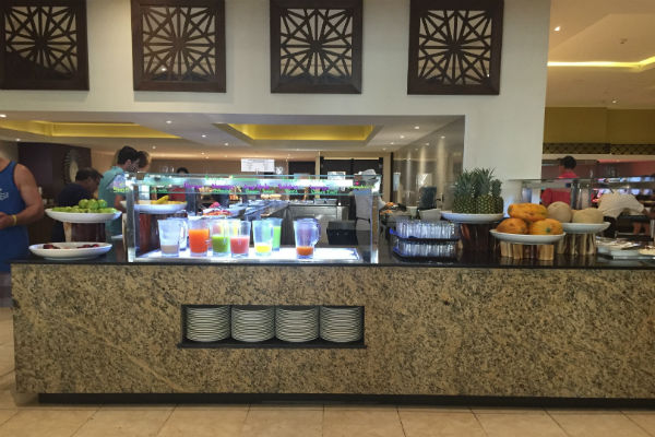 La Plaza Buffet at Hyatt Ziva Los Cabos Juice station