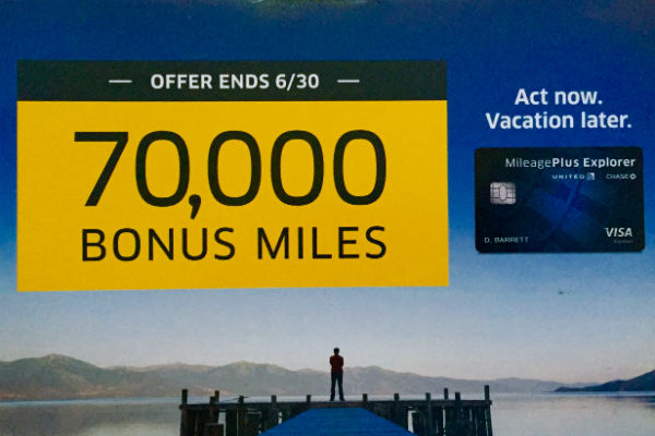 Chase United MileagePlus 70,000 Mile Offer