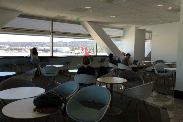 Dining Area of the Air France KLM Business Class Lounge at SFO