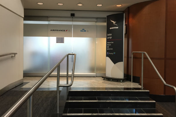 Entrance to the Air France KLM Lounge at SFO