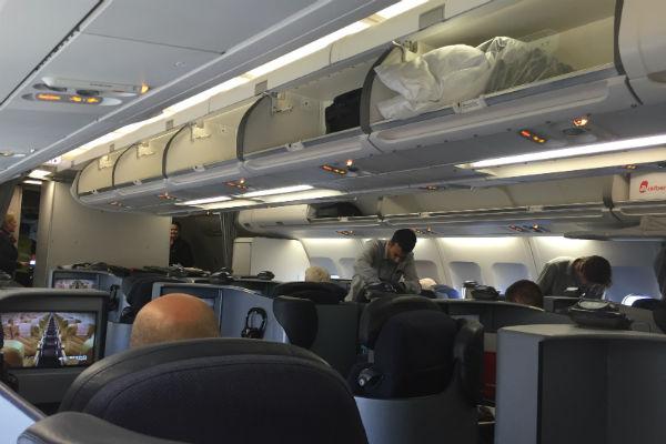 AirBerlin Business Class Cabin A330 SFO - DUS