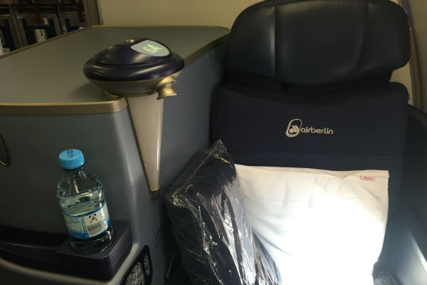 New AirBerlin Business Class Seat A330 SFO to DUS