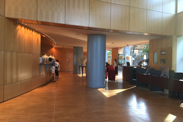 The lobby of the Hyatt Regency Paris Charles de Gaulle - after the madness died down