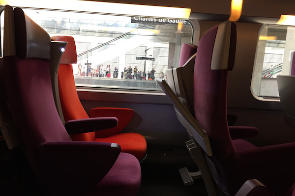 TGV Train Paris to Lille France