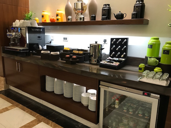 Conrad Makkah Club Lounge coffee, tea and drinks