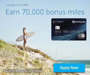 70000 Bonus Miles Barclay Arrival Plus