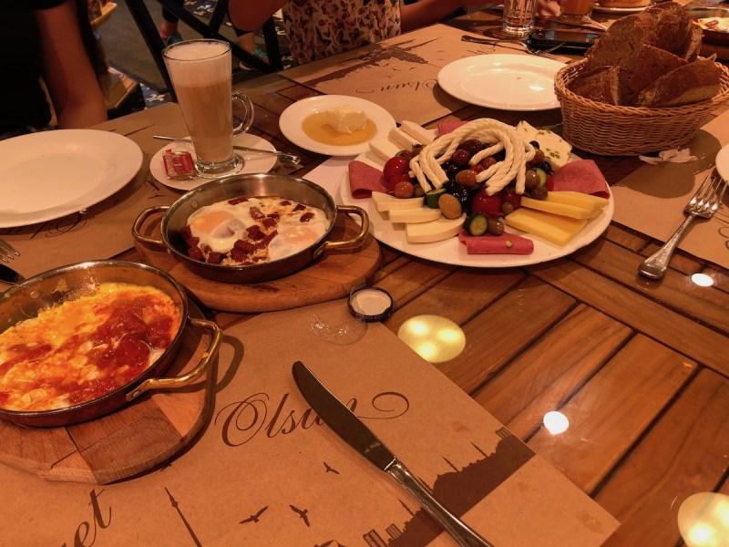 Namli Gurme Istanbul Breakfast Review Shakshuka, Eggs, and Cheese