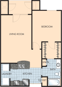 1 Bed / 1 Bath / 808 sq ft / Rent: $1,295