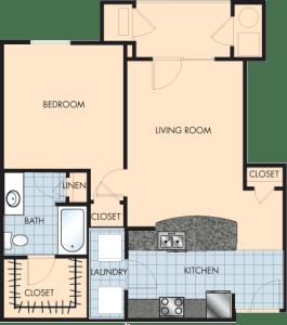1 Bed / 1 Bath / 868 sq ft / Rent: $1,340